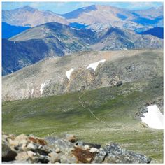The Continental Divide Trail as seen from Hallett Peak