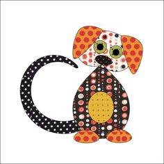 (7) Name: 'Quilting : Little Helper's - Dogs - Applique Patter