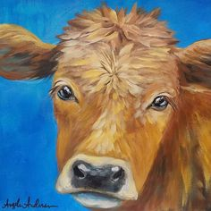 Cow Acrylic Painting Tutorial LIVE Beginner Step by Step Impressionist Lesson Angela Anderson Canvas Painting Tutorials, Acrylic Painting Lessons, Diy Painting, Painting & Drawing, Painting Videos, Cow Paintings On Canvas, Animal Paintings, Canvas Art, Cow Art