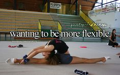 I'm flexible on my left just wish I was more flexible on my right. My right side is not flexible at all