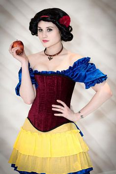 Snow White, Steampunk Costume, Inspired by Snow White, Renaissance, Cosplay, Costume, Red