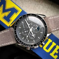 REPOST!!!  Wherever you go...GO BLUE!! #michigan #wolverine #goblue #moondate #3576 #omega #speedmaster @omega #redbarchicago #redbarcrew #watchfam @sfwatches #bowlingpin #speedytuesday @bandrbands #bandrbands #buyingmytime #watchfam #watchesofinstagram #wis #womw #chicagowatchmob #watchaddict #watchcollector #wristporn #watchgeek #watchgeeks #redbar #redbarcrew #hodinkee #watches #watchanish #watchlover #1picaday  repost | credit: ID @buyingmytime (Instagram)