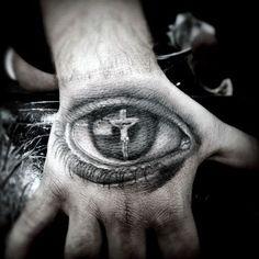 Christian Tattoo on Hand For Men