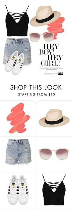 """Untitled #160"" by fashion-natalia on Polyvore featuring Obsessive Compulsive Cosmetics, Roxy, Ksubi, Linda Farrow, adidas Originals and Boohoo"