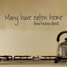 Belvedere Designs LLC Many Have Eaten Here Wall Decal