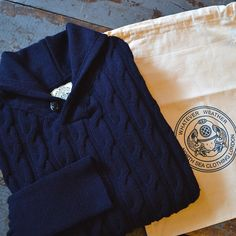 All orders containing a piece from North Sea Clothing will ship free all week! #menswear #northseaclothing #northsea #sweater #cableknit #shawlcollar #wool #independencechicago