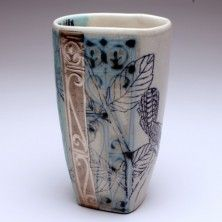 Cup made by ceramic artist Julia Galloway. Ceramic Bowls, Ceramic Pottery, Stoneware, Ceramic Techniques, Pottery Techniques, Teapots And Cups, Teacups, Wheel Thrown Pottery, Ceramics Projects