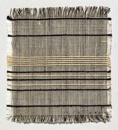 Gunta Stölzl   sample: curtain fabric   plain weave   warp: cotton (black, white)   weft: twined cotton (black) + rayon (white)   17.2 cm x 15.7 cm   Bauhaus   Dessau, Germany   c. 1926–'27