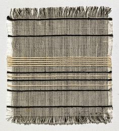 Gunta Stölzl | sample: curtain fabric | plain weave | warp: cotton (black, white) | weft: twined cotton (black) + rayon (white) | 17.2 cm x 15.7 cm | Bauhaus | Dessau, Germany | c. 1926–'27