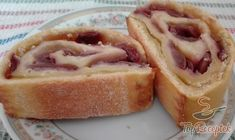 Szaftos cseresznyés tekercs | TopReceptek.hu Hot Dog Buns, Hot Dogs, Strudel, Nutella, French Toast, Cherry, Bread, Breakfast, Food
