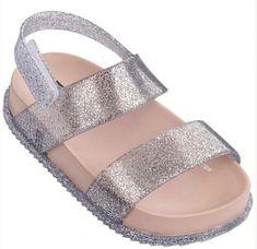 Mini Melissa Mini Cosmic Sandal Silver Sparkle