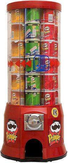 Snack Automat Warenautomat Verkaufsautomat Pringles Chips. Robust - ohne Strom