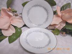 Noritake, China dinnerware Cavalier Pattern #6104  set 2 Salad plate #Noritake #Noritake