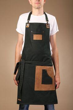 Barista, Industrial Aprons, Clothes Words, Corset Sewing Pattern, Waiter Uniform, Restaurant Uniforms, Album Design, Custom Aprons, Brown Vest