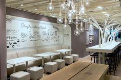 Swiss restaurant chain Not Guilty by Ippolito Fleitz Group of Germany. Winner of 2013 Red Dot Design Award for Interiors. Also Luxury Interi. Design Bar Restaurant, Restaurant Themes, Cozy Restaurant, Restaurant Seating, Luxury Restaurant, Design Blog, Cafe Design, Design Ideas, Bar Designs