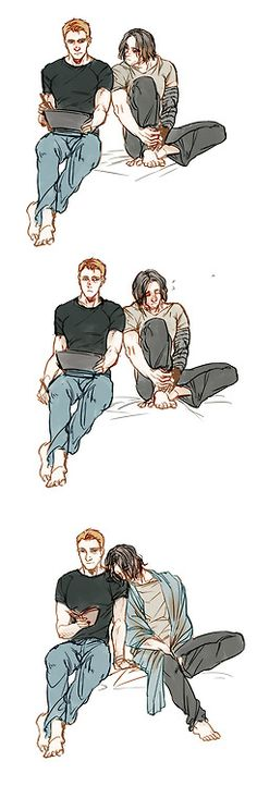 Shoulder to lean onDon't ship Stucky, but this is cute.