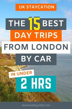 Embrace the staycation by exploring more of the UK with one of these great same-day road trips from London by car. All of them can be reached in under two hours from London.   Make 2020 the year to discover the English countryside; with quaint villages and dramatic coastlines that are within easy reach on a day trip from London.  #London #DayTrip #Roadtrip #Driving #Vacation #Holiday #UK #UKRoadtrip Road Trip Uk, Leeds Castle, Drive Time, Day Trips From London, English Village, Milton Keynes, River Thames, English Countryside, Staycation