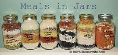 Meals in Jars - Gift basket for my baby brother and his girlfriend