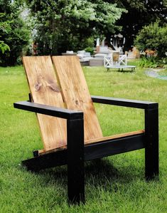 Patio Chairs, Outdoor Chairs, Outdoor Decor, Outdoor Seating, Woodworking Projects Diy, Diy Wood Projects, Outdoor Projects, Adirondack Chair Plans, Ana White