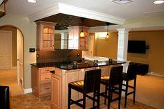 Extraordinary Basement Kitchen Design 2   63561   Home Design Ideas Rustic Basement  Bar, Small