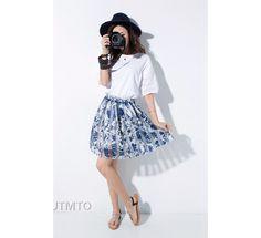 Maxi Skirts – Women Chiffon TuTu Skirts – a unique product by MicCoat via en.DaWanda.com #blue #flowers