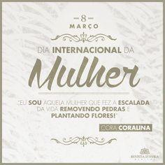 #MêsdasMulheres . 8 de Março Dia internacional da Mulher! Fica a homenagem da Revista D'Ávila à todas as nossas amigas e clientes.