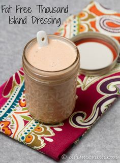 This is awesome!!!! Fat Free Thousand Island Dressing!!!!