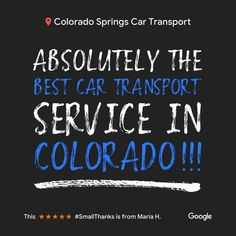 Another 5⭐ review off a satisfied customer. Always a pleasure. Many thanks for the kind feedback. #5starreview #cartransport #autotransportreview #ColoradoSprings #ColoradoSpringsCarTransport