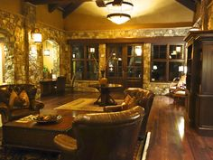 Summers Custom Multi-Width Hickory Flooring at the Pronghorn Club & Resort Clubhouse Hickory Flooring, Rustic, Club, Live, House, Inspiration, Rustic Floors, Home Flooring, Country Primitive