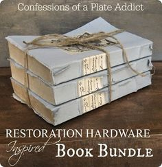 DIY Home Decor | Decorative Accessories | Find out how to make new books look old and create a Restoration Hardware Inspired Vintage Book Bundle!