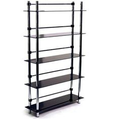 Buy 5 Tier Media Display Shelves - Black at Argos.co.uk - Your Online Shop for CD, video and DVD storage.