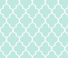 Mint Quatrefoil To Match Magenta Paeonia Fabric By Sparrowsong On Spoonflower