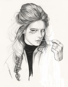Fashion Illustrations by Esra Røise | Inspiration Grid | Design Inspiration
