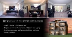 889 Grosvenor - In the Heart of Corydon Village In The Heart, Square Feet, Granite, Countertops, Hardwood, Real Estate, Flooring, Home, Vanity Tops