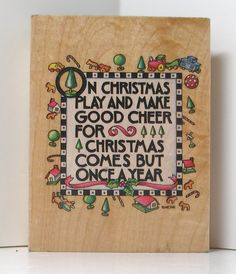 Mary Engelbreit ON CHRISTMAS Rubber Stamp by PollysPlace on Etsy