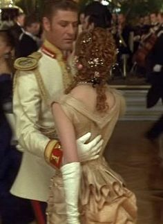 Kitty's cream ball gown from Anna Karenina 1997 - back close up   picture by costumersguide - Photobucket
