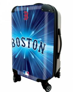 """Boston Sox, 21"""" Clear Poly Carry-On Luggage by Kaybull"""