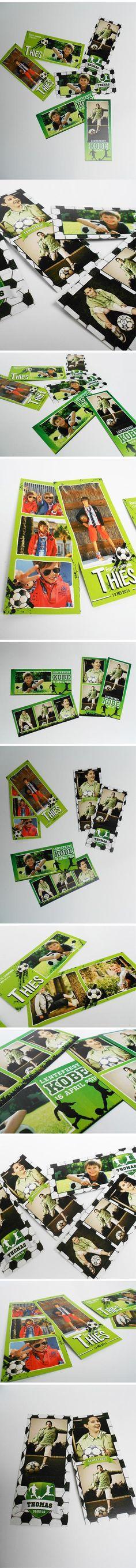 #communiekaartjes met voetbal designs