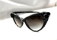Skull & Pearl Cat Eye Sunglasses