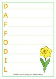 Daffodil Printables - Just right for celebrating St. David's Day on 1st March