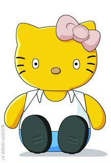 Simpsons Hello Kitty - too cute! Hello Kitty House, Hello Kitty Art, Hello Kitty Themes, Hello Kitty My Melody, Kitty Kitty, The Simpsons Show, Hello Kitty Imagenes, Hello Kitty Characters, Hello Kitty Pictures