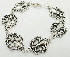 Fleur de Lis filigree bracelet.  $30