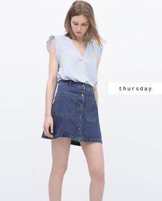 #zaradaily #thursday #woman #shirts #skirts