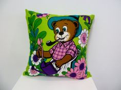 ACL Vintage Tea-Towel Gardening Time Cushion Cover via Etsy