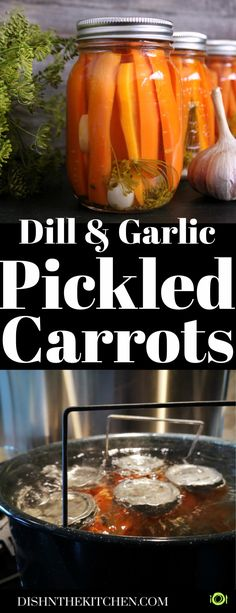 Small batch preserving these Pickled Carrots is easier than you think. Grow your own or buy carrots in season, then pickle them with dill and garlic for a dill-icious treat! #pickling #preserving #canning #pickledcarrots