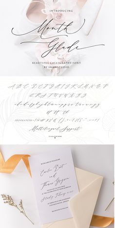 Wedding Script, Wedding Calligraphy, Calligraphy Fonts, Wedding Stationery, Wedding Invitations, Beautiful Calligraphy, Uppercase And Lowercase Letters, Product Packaging, Punctuation