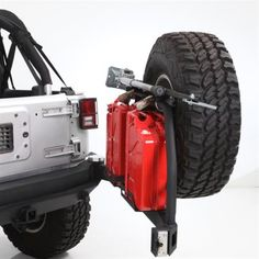 Smittybilt - XRC Atlas Rear Bumper and Tire Carrier - Fits 2007 to 2015 JK Wrangler, Rubicon and Unlimited - 4WheelParts.com