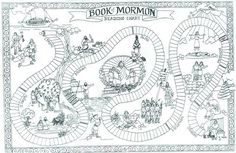 book of mormon game board/reading chart