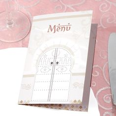 Menu décoration de table - Oriental A74R
