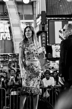 Project Runway in Times Square (season 10). yayyy! her dress <3.